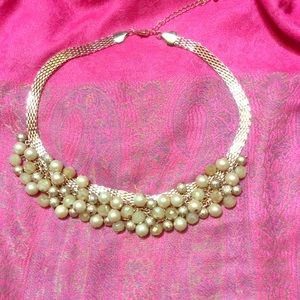 GOLD colored beaded becklace